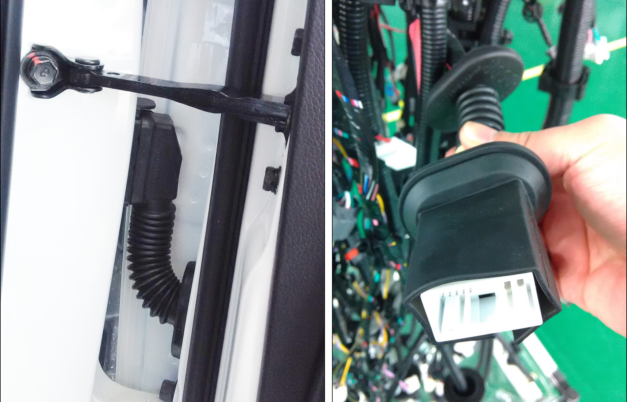 Driver Door Cable Harness Rubber Boot