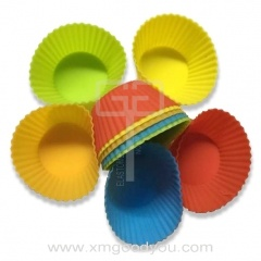 Wholesale Colorful Silicone Cup Cake Reusable Silicone Baking Cups